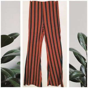 Forever21 striped flare, palazzo, bell pants,